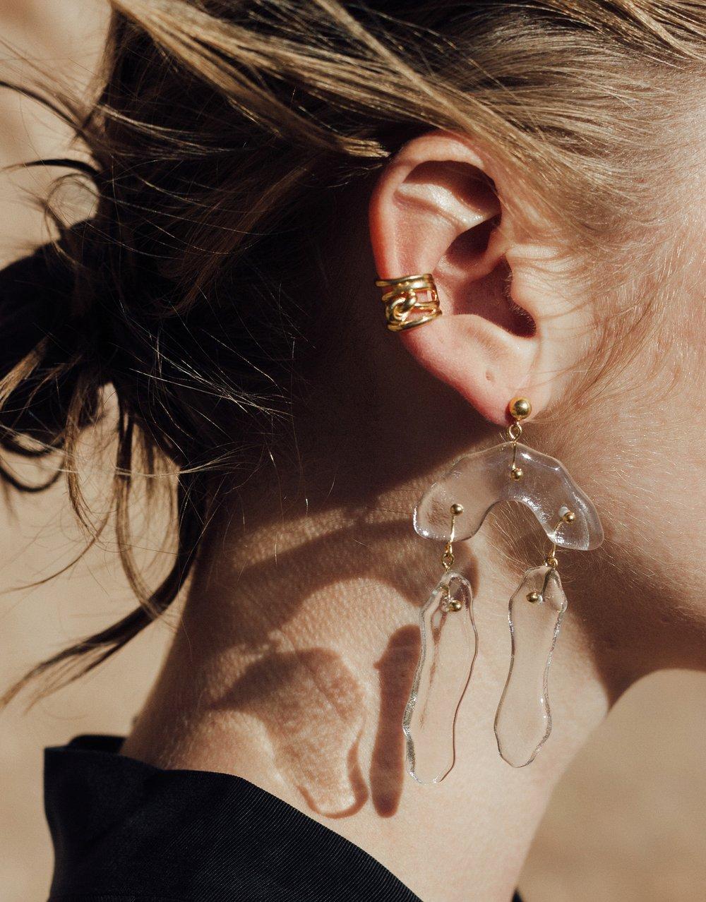CLED Rock Dangling Earrings