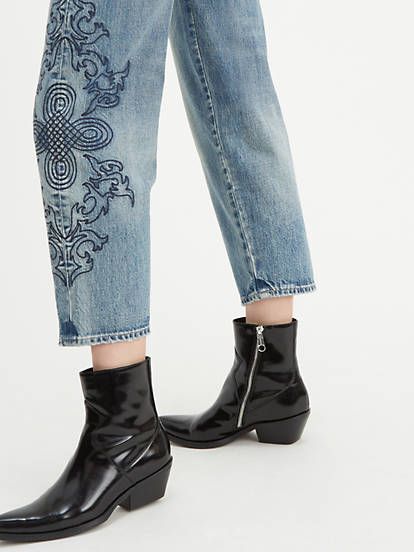 Levi's Embroidered Barrel Jeans, Made & Crafted